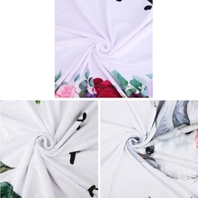 Baby Blanket Flannel Photography Monthly Photo Newborn Milestone Crawling Mat U50F