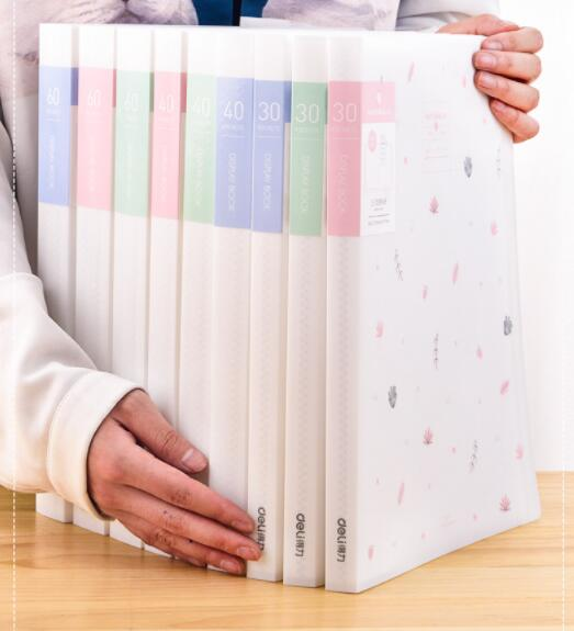 Small fresh Paper File Holders A4 Document Holder Storage Binder Pouch Package b super data folder Office School 30/40/60pages File Folder    - title=