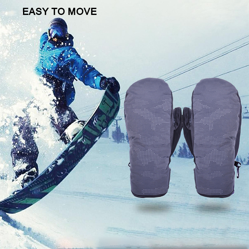Ski Gloves Waterproof Gloves Snowboard Heated Gloves Warm Snowmobile Snow Gloves Men Considerate Windproof Women Ski Mitten