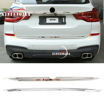 For BMW X3 G01 18-19 Stainless Rear Trunk Luggage Compartment Door Strip Rear Car LOGO Decorate Strip Trim