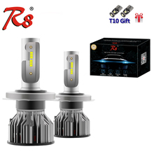 R8 Z6 H4 H13 9004 9007 Dual Beam H7 H11 H1 H8 9012 Single LED Headlight Kit 50W 5800LM ZES Chips Lamps All In One White