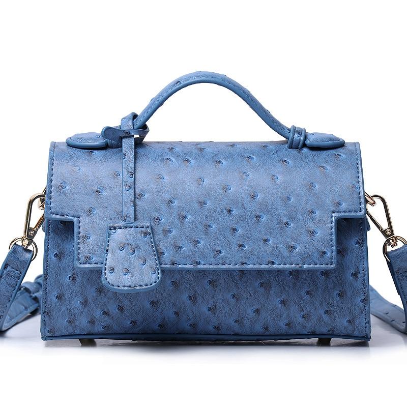 2020 Monogrammed Letters PU Leather Handbag Luxury Messenger Bag New Arrival Crossbody Bag Fashion Ostrich Pattern Women Bag