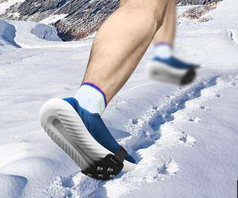 1 para 5-Stud Snow Ice claw wspinaczka niezbędne antypoślizgowe kolce uchwyty Crampon buty korki pokrywa dla kobiet mężczyzn pokrowiec na buty A1122