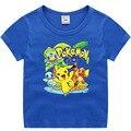 Takara Tomy Pokemon футболка «Пикачу» для детей летние футболки для мальчиков и девочек смешная аниме футболка милая детская одежда Топы