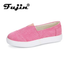 Fujin 2019 New Summer Female Denim Casual Women Canvas Shoes Dropshipping Sleeve Breathable Large Size 35-43 Ladies