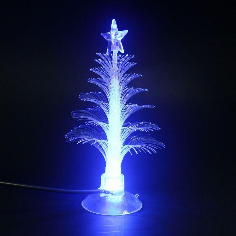 Arbre de noël LED veilleuses décoration de la maison couleur changeante veilleuses à fibres optiques - 5