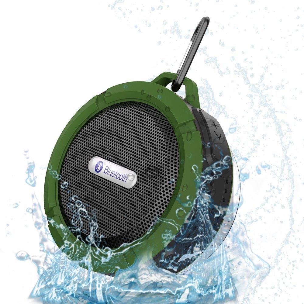 Portable Waterproof Mini Subwoofer MP3 Music Box Louderspeaker Outdoor Bluetooth Speaker With Metal Hook MIC For Phone Laptop