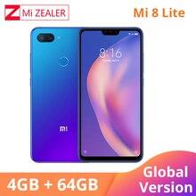 نسخة عالمية من هاتف Xiao mi 8 Lite بذاكرة وصول عشوائي 4 جيجا بايت وذاكرة داخلية 64 جيجا بايت هاتف ذكي مع معالج سنابدراجون 660 ثماني النواة 2280x1080 بشريحتين وشاشة 6.26 بوصة mi UI