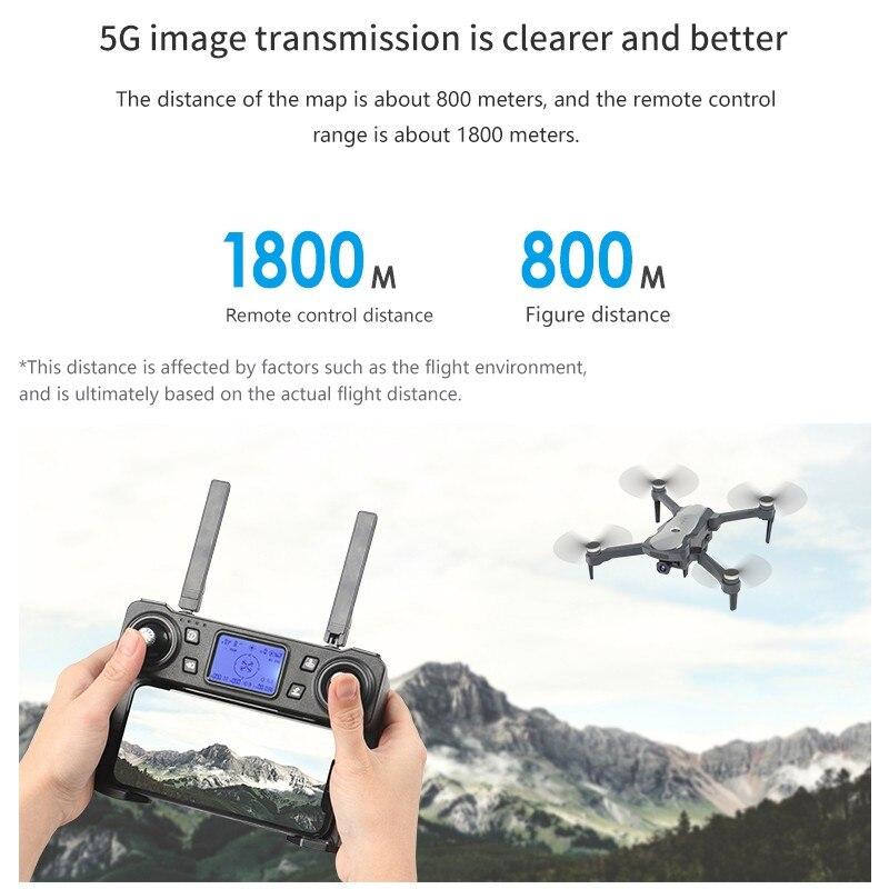 2019 novo zangão k20 com 4 k câmera dupla gps um chave retorno modo headless siga me círculo voar rc drones brinquedos - 6