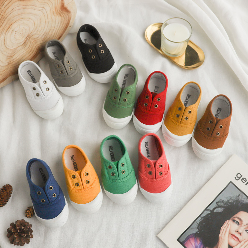 Honey Angle Summer Toddler Baby Canvas Shoes Spring Autumn Girls Boys Sneakers Children Sneakers Colorful Cotton Child Footwar