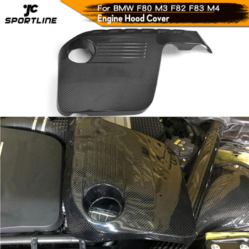 Engine Cover in Bonnet for BMW F80 M3 F82 F83 M4 2014 - 2018 Carbon Fiber Auto Hood Bonnet Protector image