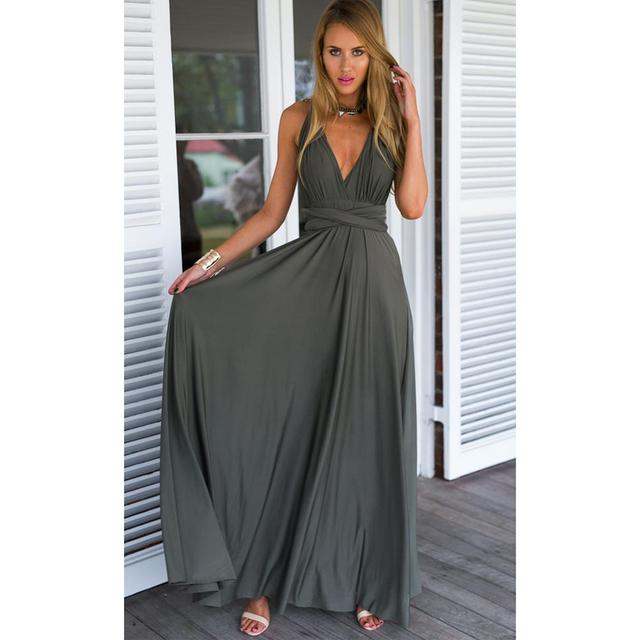 Ladies Sexy Women Maxi Club Dress Bandage Long Party Multiway Swing Convertible Infinity Red Bridesmaids Boho Dresses Plus Size 22