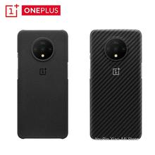 Original OnePlus 7T  Official Bumper Case Material Aramid fiber PC Half round Back Cover Shell Sandstone Carbon For OnePlus 7T