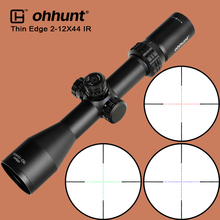 ohhunt Thin Edge 2-12X44 IR Hunting Optical Sights Glass Reticle Red Green Blue Illuminate with Turret Reset Tactical Riflescope цена в Москве и Питере