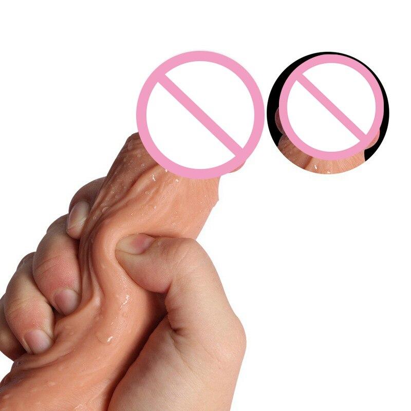Для женщин двухслойная член мягкая накладка из жидкого силикона с Наслаждайтесь счастливыми реквизит