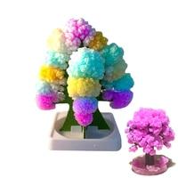 Children Best Birthday Gifts Novelty Creative DIY Paper Flower Toys Paper Christmas Tree Magic Growing Paper Sakura