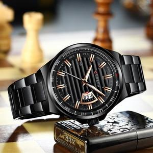 Image 4 - Man Brand Luxury Watch Gold White Top Brand CURREN Watches Stainless Steel Quartz Wristwatch Auto Date Clock Male Relogio