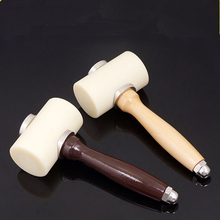 MIUSIE DIY Leather Craft Hammer Nylon Solid Wood Handle Printing Carving T-Shaped Double Sewing Tool
