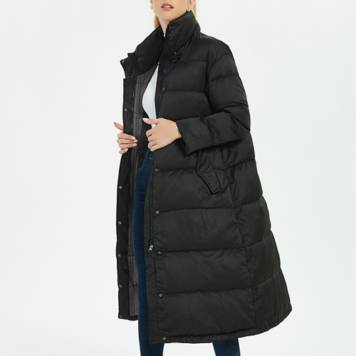 2019 Lengthen The Knee Winter   Down     Coat   Female Pure Color To Keep Warm Thick Collar Contracted   Down   Jacket Women Fashionable