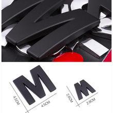 New Car Sticker 45mm And 25-28mm 3D DIY Letters Alphabet Emblem Chrome & Black Car Sticker Digital Badge Logo Accessories