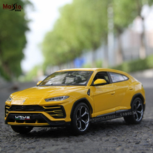 цена Maisto 1:24 Lamborghini Bison URUS SUV Alloy Racing Convertible alloy car model simulation car decoration collection gift toy