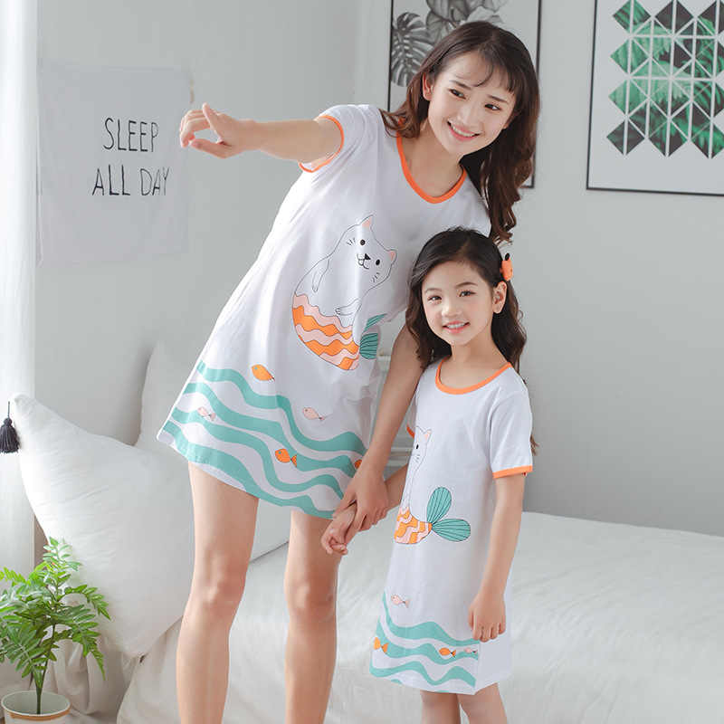 Kid Girls Cartoon Princess Nightdress Pyjamas Pjs Fancy Cosplay A-Line Sundress