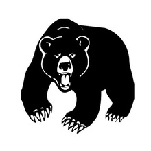 waterproof Roaring Grizzly Bear Wild Animals Car Sticker car body Window Decorationm decal