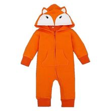 Spring autumn baby romper cartoon hooded jumpsuit long sleeve rompers for newborn infant