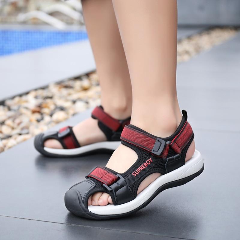 Children's Sandals Boys Sport Beach Shoes Close Toe Big Boys Sandals Kids Stud Shoes 2020 Summer Teens Anti-slip Shoes For Men