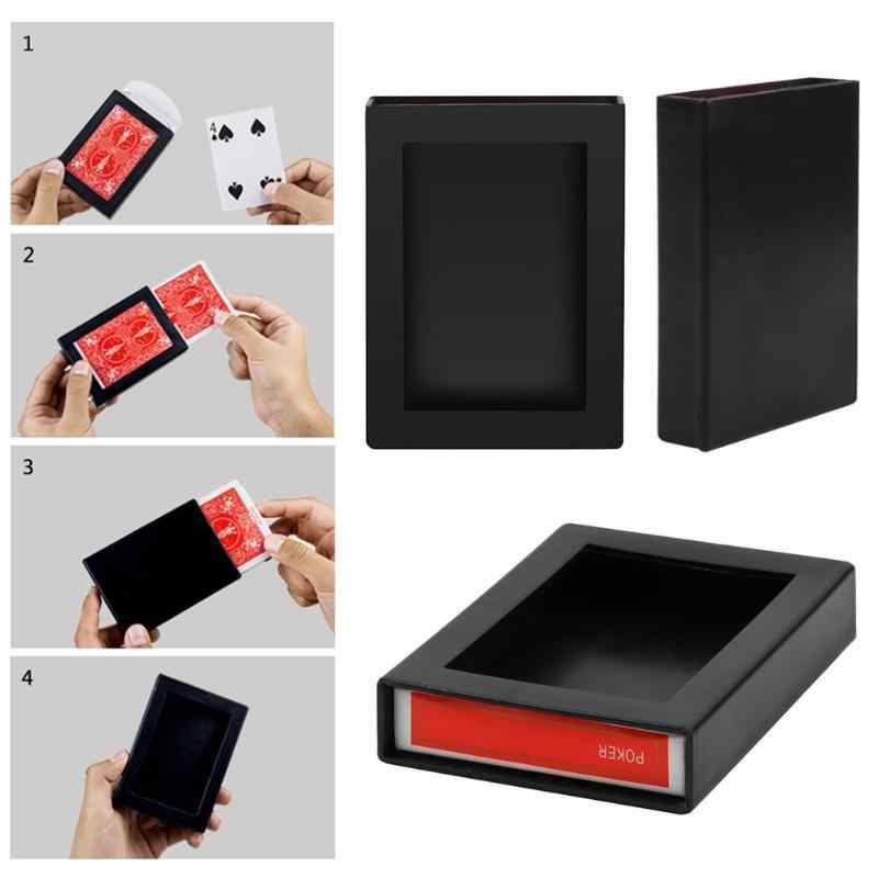 Yeni eğlenceli Poker ufuk kutusu İnanılmaz oyun kartı kolay sihir yapmak sihirli Poker kaybolan kutusu çocuklar yenilik oyuncaklar hediye