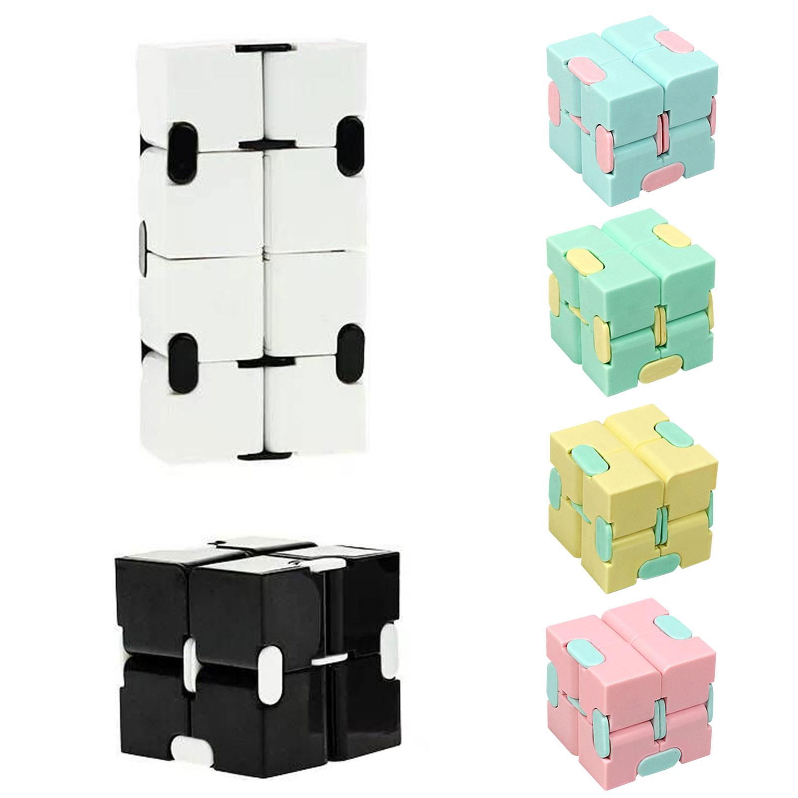 Кубик-головоломка, прочная Изысканная игрушка для снятия стресса, волшебный кубик бесконечности для взрослых и детей, фиджет-чехол, антистр...