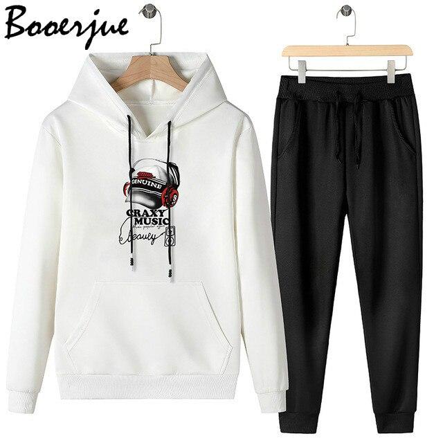 2020 Tracksuit Men Fashion Autumn Winter Sporting Suit Hoodies+Sweatpants 2 Pieces  Sportwear Set Male Joggers Hoody Men Suit