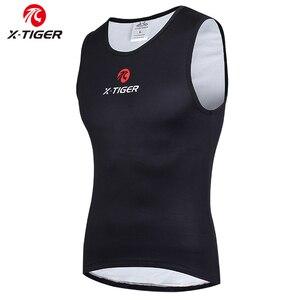 Image 1 - X TIGER Winter Cycling Base Layer Sleeveless Fleece Sports Bike Jerseys Bicycle Keep Warm Sleeveless Shirt Warm Bike Underwear