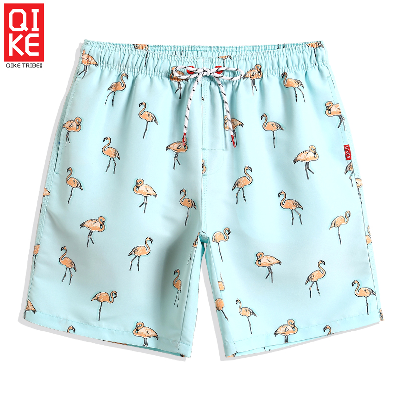 2019 New Bathing suit Solid   Board     shorts   Quick dry surfing sport de bain homme swimwear Beach   shorts   printed mesh