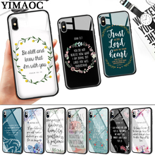Bible verse Philippians Jesus Glass Phone Case for Apple iPhone 11 Pro XR X XS Max 6 6S 7 8 Plus 5 5S SE