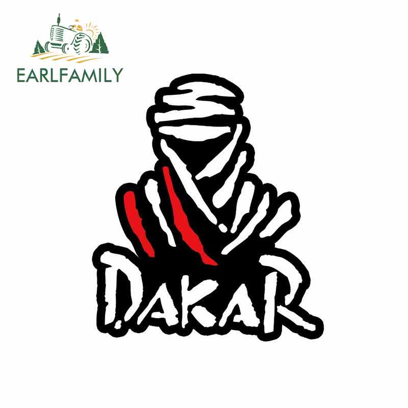 EARLFAMILY 13cm X 9.8cm For Dakar Rally Auto Moto Racing Anime Funny Car Stickers JDM Vinyl Car Wrap Bumper Trunk Truck Graphics