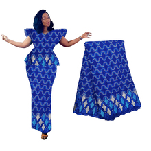 African Lace Fabric Latest Beaded 2019 High Quality France Nigerian Lace Fabric Materials For Women African Dresses