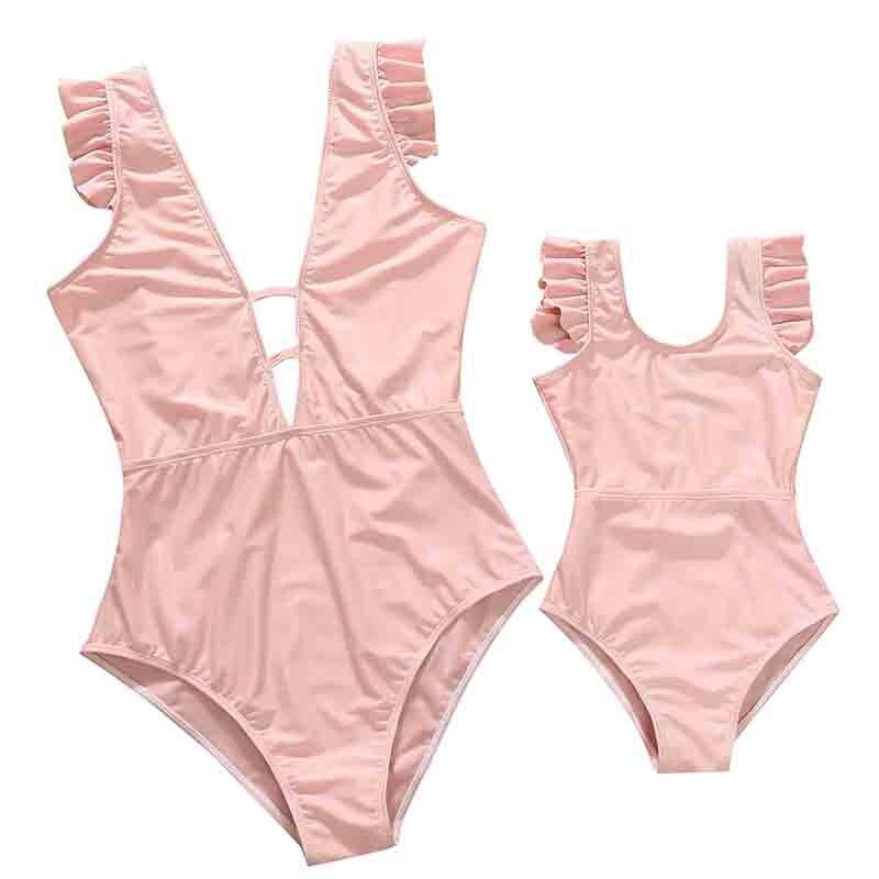 Летний купальник для матери и дочери, купальник для мамы и дочки, бикини, семейная одежда, наряды, одежда для мамы и ребенка