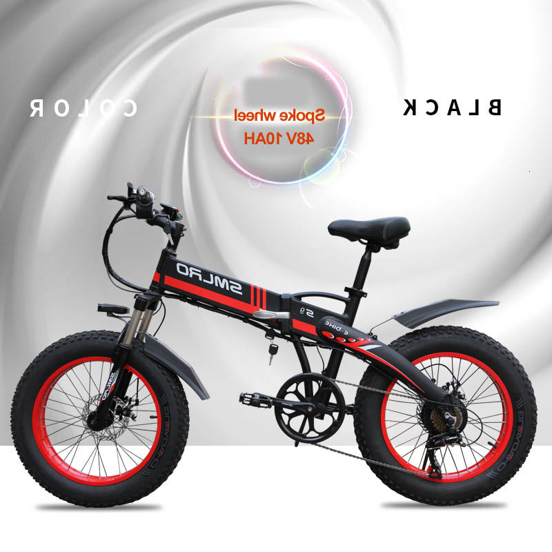 China S9f Manufacturer 20 Inch E Bike 48v 500w Fatbike Folding Electric Bike 1