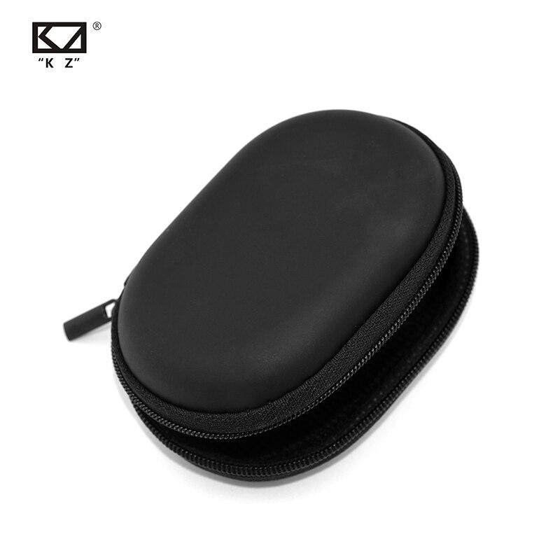 KZ Case Earphone Black Square Type PU Case Earphone Case Bag Portable Absorption Storage Package Headset Earphone BA10 AS10 ES4