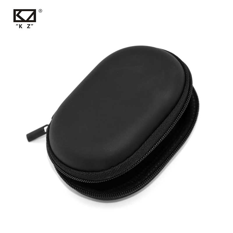 KZ Case Earphone Black Square Type PU Case Earphone Case Bag Portable Absorption Storage Package Headset Earphone BA10 AS10 ES4