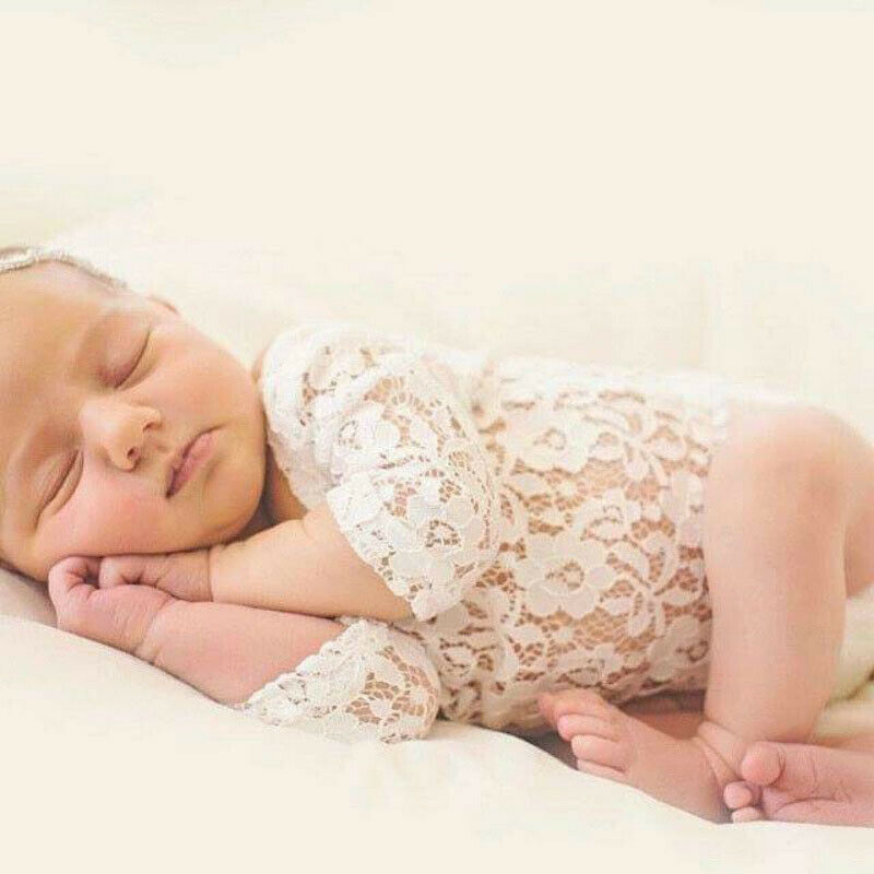 Newborn Photography Set Bodysuit and Hairband