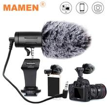 Микрофон MAMEN 3,5 мм со штекером для камеры, конденсаторный микрофон для записи, ультра широкий Студийный микрофон для Canon, Sony, Nikon, DSLR, DV, Vlog