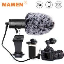 Mamen 3.5 ミリメートルプラグカメラマイクコンデンサー記録 microfone 超ワイドオーディオスタジオマイクキヤノン一眼レフ dv vlog