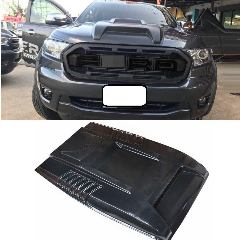 Protection contre les insectes Scoop capots couverture extérieur voiture style moulage adapté pour Ranger T8 xlt 2018 2019 scoop hooods couvre pièces automobiles