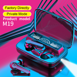 Earbuds Gaming Headphone M19 Automatic Boot Pairing IPX 7 Wterproof V5.1 HD Led Display Intelligence 3D Touch Wireless