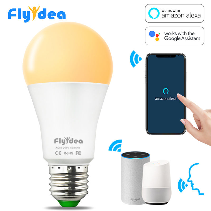 15W E27 LED Light Bulb Equal To 90W Incandescent Lamp WiFi Control Smart Home Light Bulb Compatible Alexa And Google Assistant