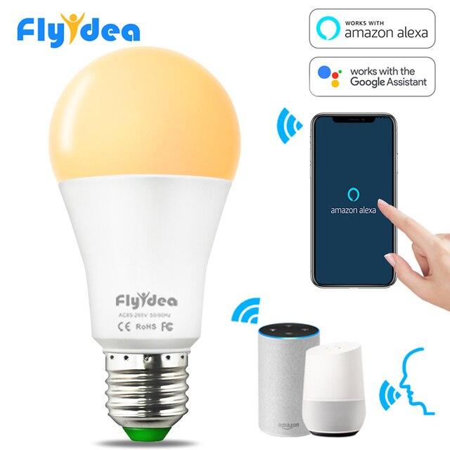 15W E27 LED ampul eşit 100W akkor lamba WiFi kontrolü akıllı ev ampul uyumlu Alexa ve Google asistan