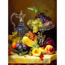 Набор для вышивки крестиком 11CT с фруктовым пейзажем, набор для рукоделия, холст с принтом, хлопковая нить, украшение для дома, распродажа