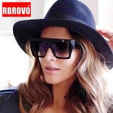 RBROVO 2019 Large Frame Simple Sunglasses Women Brand Designer Sun Glasses For W